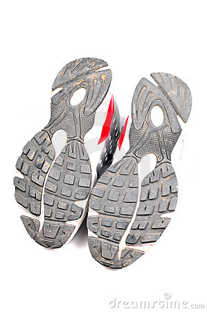 Used sports shoe soles