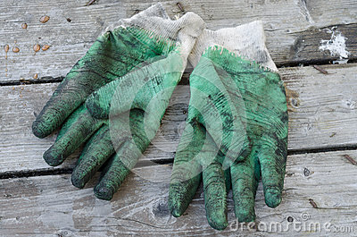 Used work gloves