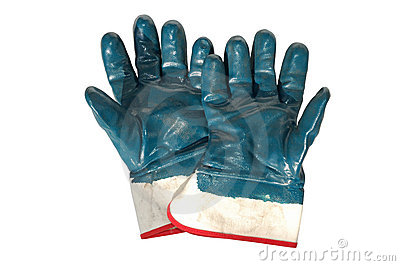 Used Working Gloves
