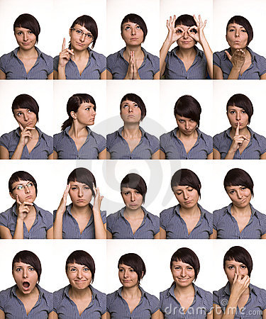 Free Useful Facial Expressions. Actor Faces. Stock Photos - 16351283