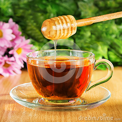 Free Useful Tea With Honey On A Background Stock Photo - 64733030