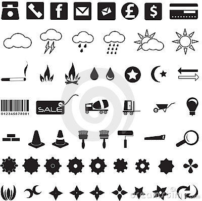 Free Usefull Icons And Symbols Stock Image - 19795501