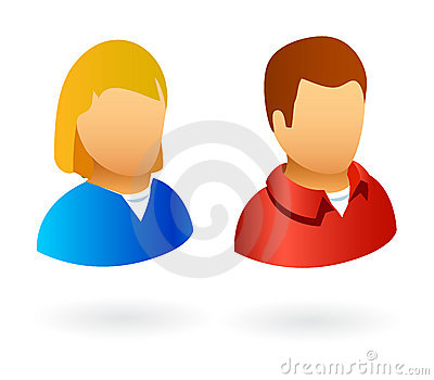 User avatars male and female