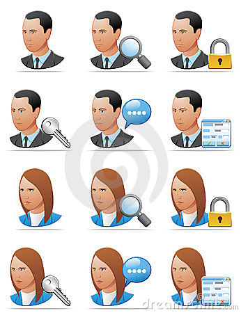 User Icons (detailed Face) Royalty Free Stock Photography - Image: 9012507