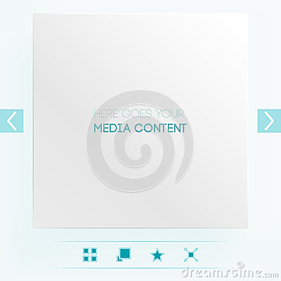 Template for placement of media content