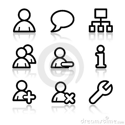 Users contour web icons