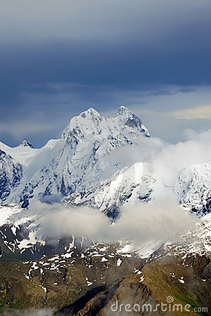 Ushba peak - caucasus mountains