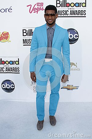 Usher at the 2012 Billboard Music Awards Arrivals, MGM Grand, Las Vegas, NV 05-20-12 Editorial Photography