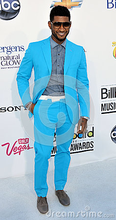 Usher arrives at the 2012 Billboard Awards Editorial Stock Photo