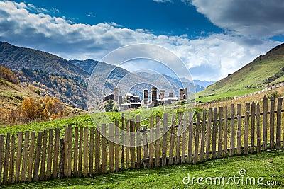 Ushguli village in Swanetia. Georgia