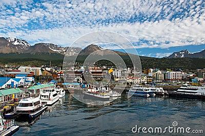 Ushuaia, de Provincie van Tierra del Fuego, Argentinië
