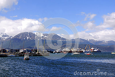 Ushuaia harbor Editorial Photo