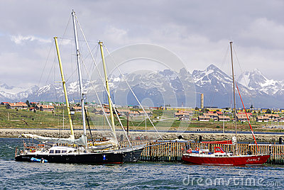 Ushuaia harbor Editorial Photography