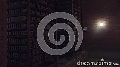 Usine pour la production des briques Usine pour le matériau de construction de production avec la brique prête, construction indu banque de vidéos