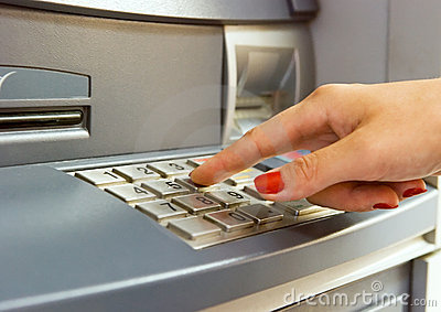 Using bank ATM