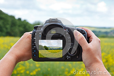 Using a dslr camera to take a photo