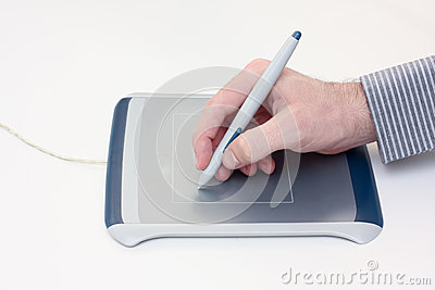 Using a graphics tablet