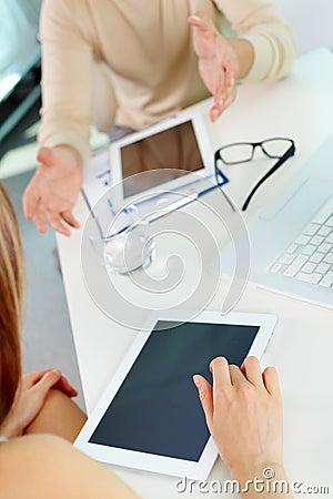 Using ipad tablet