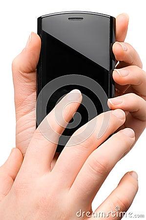 Using modern mobile phone
