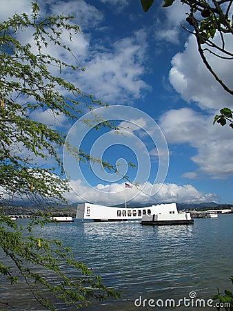 USS Arizona Memorial - Shoreline View
