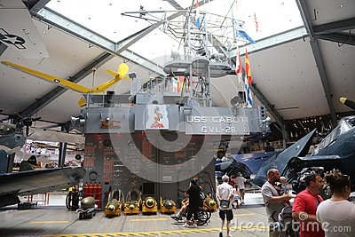 USS Cabot Exhibit Naval Aviation Museum Editorial Stock Photo