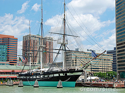 USS Constellation 1854 Editorial Photography