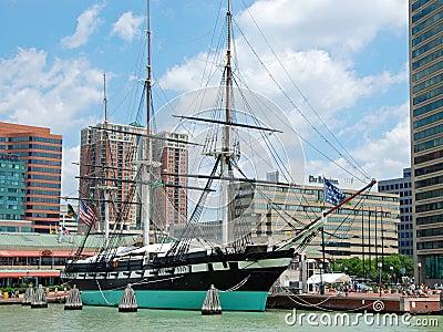 USS Constellation 1854 Editorial Photography