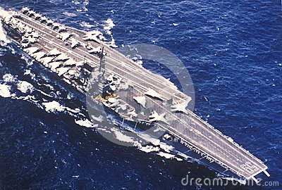 USS Forrestal Aircraft Carrier Editorial Image