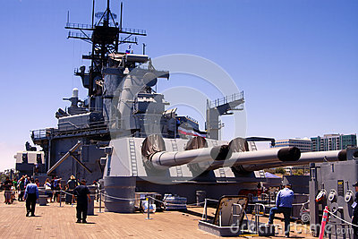 USS Iowa Famous United States Battleship Editorial Photo