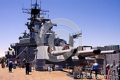 USS Iowa Famous United States Battleship Editorial Photo