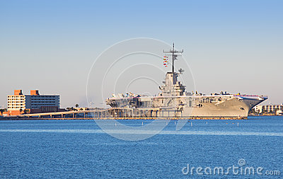 USS Lexington in Corpus Christi Editorial Stock Photo