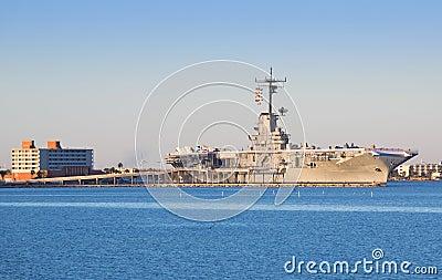 USS Lexington in Corpus Christi Editorial Stock Photo
