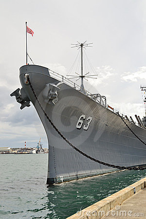 USS Missouri front view