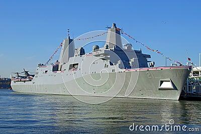 USS NEW YORK on November 7, 2009 Editorial Photo