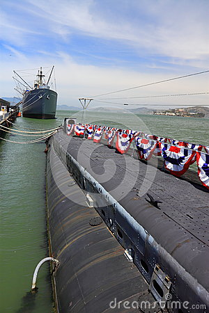 USS Pampanito submarine San Francisco Editorial Photo