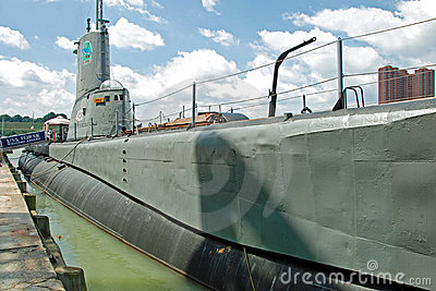 USS Torsk Submarine in Baltimore Inner Harbor Editorial Image