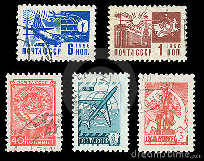 USSR post stamps