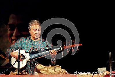 Ustaad Amjad Ali Khan s concert at Konark Editorial Stock Photo