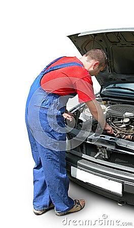 Ustalenie mechanika samochodowego silnika