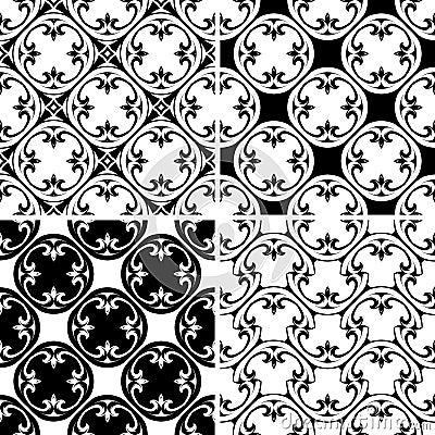 Ustalony bezszwowy dekoracyjny wzór