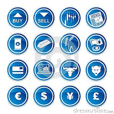 Ustawia handlarskie ikony