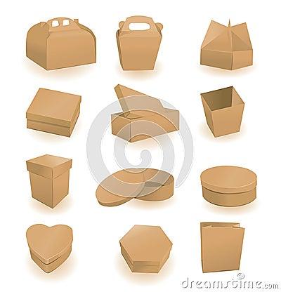 Ustawiający pudełko pakunki