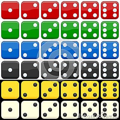Ustawiający kolorowi kostka do gry