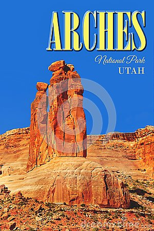 Travel Poster, Utah - Arches National Park, America