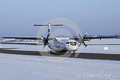 UTair airplane ATR 72 Editorial Stock Image