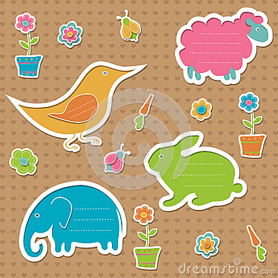 Сute text frames in the shape of animals