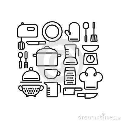 utensili da cucina illustrazione di stock - immagine: 55866355 - Arnesi Da Cucina