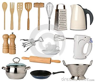 Utensili della cucina fotografia stock libera da diritti for Kit utensili da cucina