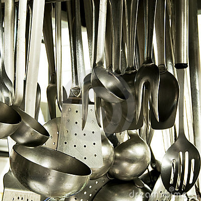 Free Utensils In A Hotel Kitchen Royalty Free Stock Photos - 10562268