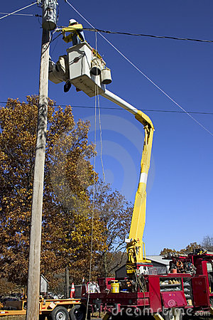 Free Utility Pole Work Stock Photo - 1513850